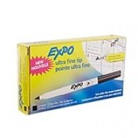 Expo® Low Odor Dry-Erase Markers, Ultra Fine Tip, Black, 12/pk (1871131)