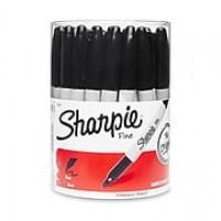 Sharpie® Fine Point Permanent Markers, Black, 36/pk (35010)