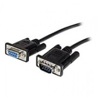 StarTech MXT10050CMBK 0.5m Black Straight through DB9 RS232 Serial Cable, M/F