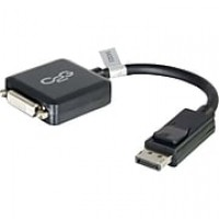 8in DisplayPort™ to Single Link DVI-D Adapter Converter for Laptops and PCs - Black