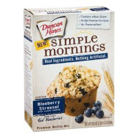 Duncan Hines Simple Mornings Muffin Mix Blueberry Streusel