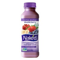 Naked Protein Double Berry Juice Smoothie No Sugar Added Non-GMO