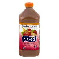 Naked Strawberry Banana 100% Juice Smoothie No Sugar Added Fresh