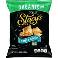 Stacy's Baked Organic Pita Chips Simply Naked Non-GMO