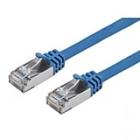 Cat7 26AWG Shielded (S/FTP) Ethernet Network Patch Cable, 10ft Blue