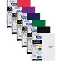"Five Star® Trend Wirebound Notebook, 3 Subject, College Ruled, 11"" x 8 1/2"" (06050)"