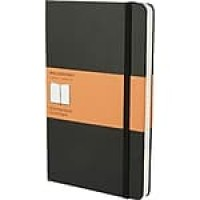 "Moleskine® Classic Notebook, Large, Ruled, Black, Hard Cover, 5"" x 8-1/4"""