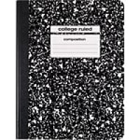 "Staples Composition Notebook, 9.75"" x 7.5"", College Ruled, 100 Sheets, Black (40451M-CC)"