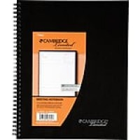"Cambridge® Meeting Format Notebook, 80 Sheets, 8-7/8"" x 11"", Black (06132)"