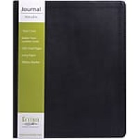 "Eccolo Simply Black Desk Size Flexible Journal, Black Faux Leather, Journal Ruled, 8"" x 10 1/2"", 128 Sheets"