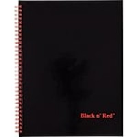 "Black n' Red™ Twinwire Business Notebook, Hardcover, Ruled, 70 Sheets, 11"" x 8-1/2"", Black (K67030)"