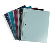"Staples Accel 5-Subject Notebook, 8.5"" x 11"", College Ruled, 200 Sheets, Assorted (20038M-CC)"