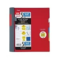 "Mead Five Star Advance 5 Subject Notebook, 8.5"" x 11"", College Ruled, 200 Sheets, Assorted (06326)"