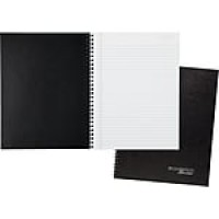 "Cambridge® Legal Ruled Business Notebook, 80 Sheets, 8-7/8"" x 11"", Black (6062)"