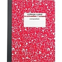 "Staples Composition Notebook, 9.75"" x 7.5"", College Ruled, 100 Sheets, Red (25888)"