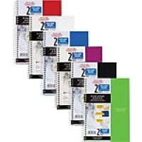 "Five Star 2-Subject Notebook, 6"" x 9.5"", College Ruled, 100 Sheets, Assorted (06180)"