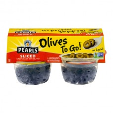 Pearls Olives To Go! California Ripe Sliced - 4 ct