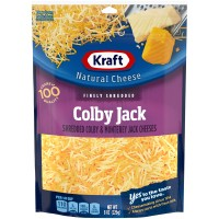 Kraft Colby & Monterey Jack Cheese Finely Shredded Natural