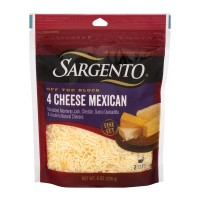 Sargento Off The Block 4 Cheese Mexican Fine Cut Shredded