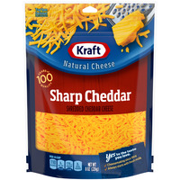 Kraft Aged Cheddar Cheese Sharp Yellow Shredded Natural