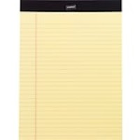 "Staples Perforated Note Pads, Wide/Letter Ruled, Yellow, 8-1/2"" x 11-3/4"", 12/Pack"