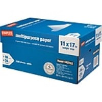 "Staples® Multipurpose Paper, 20 Lb., 96 Bright, 11"" x 17"", White, 5-Ream Case (05032)"