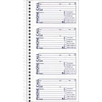 "Adams® Phone Message Books, 5.5"" x 11"", 400 Sets/Book, 2/Pack (SC1154-2D)"