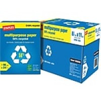 "Staples 50% Recycled Multipurpose Paper, 8 1/2"" x 11"", Case"