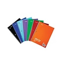 "Staples 1-Subject Notebook, 8"" x 10.5"", College Ruled, 70 Sheets, Assorted (27498M)"