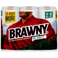 Brawny Paper Towels Full Sheet 2-Ply White