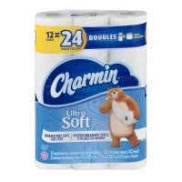 Charmin Ultra Soft Bathroom Tissue Double Roll 2-Ply Unscented