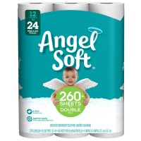Angel Soft Bathroom Tissue Double Roll 2-Ply Unscented