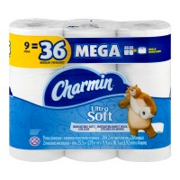 Charmin Ultra Soft Bathroom Tissue Mega Roll 2-Ply Unscented