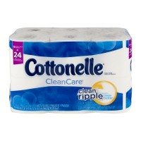 Cottonelle Clean Care Bathroom Tissue Double Roll 1-Ply Unscented