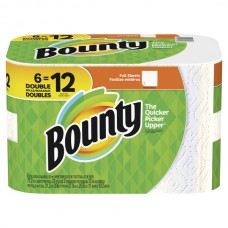Bounty Paper Towels Double Roll 2-Ply White