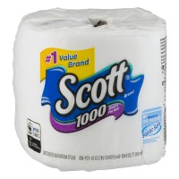 Scott Bathroom Tissue 1000 Sheets Per Roll 1-Ply
