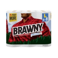 Brawny Pick-A-Size Paper Towels Big Roll 2-Ply White