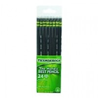 Dixon Ticonderoga® Black Woodcase Pencils, #2 Soft, 24/Bx