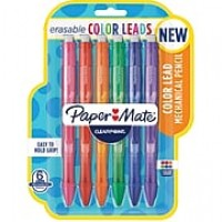 Paper Mate Clearpoint Color Lead Mechanical Pencils , 0.7mm, Assorted Colors, 6 Count (1984678)