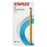 Staples® Yellow Pencils, No. 2, Soft, 72/Pk (10434)
