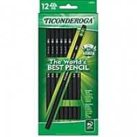 Dixon Ticonderoga® Black Woodcase Pencils, #2 Soft, Dozen