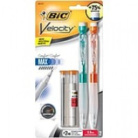 BIC Velocity Max Mechanical Pencil, 0.9mm, 2/Pack (MPMX9P21-BLK)