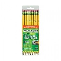 Dixon Ticonderoga® Pre-Sharpened Woodcase Pencils, #2 Soft, Yellow Barrel,18/Pack