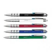 Staples Xeno® Retractable Ballpoint Pens, Medium, Blue Ink / Assorted Barrel Colors, 12/Pk