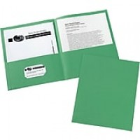Avery® Two-Pocket Folders 47987, Green, Box of 25