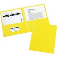 Avery(R) Two-Pocket Folders 47992, Yellow, Box of 25