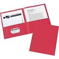 Avery(R) Two-Pocket Folders 47989, Red, Box of 25