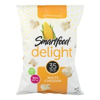 Smartfood Delight Air Popped Popcorn White Cheddar Flavored