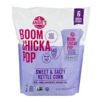 Angie's BOOMCHICKAPOP Kettle Corn Sweet & Salty - 6 pk