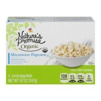 Nature's Promise Organics Microwave Popcorn Slightly Salty